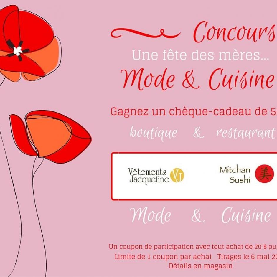 Concours Une fête des mères... Mode & Cuisine